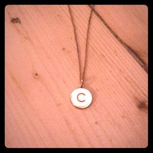 """Kate Spade """"C"""" Charm Necklace"""